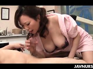 Nasty nurse playing slut..