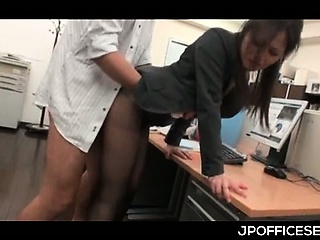 Asian office cutie in..