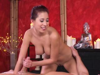 Busty Asian masseuse bulky..