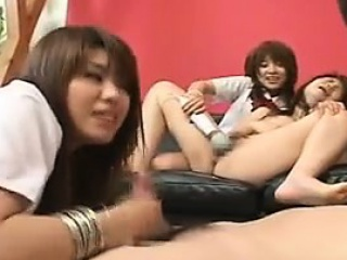 Asian schoolgirls..