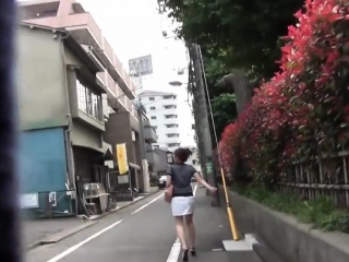Hot asian pees in terrace