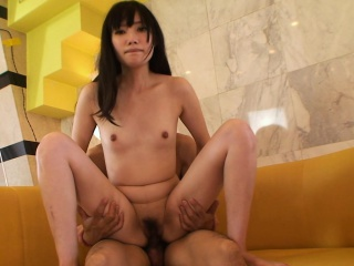 Small titty brunette Asian..