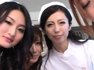 Oriental nurse gets mouth..