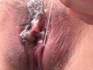 Tiny asian masturbating