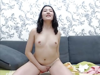 Cute Asian on webcam
