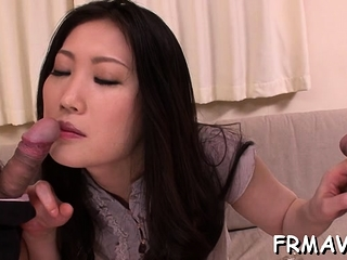 Sweet asian darling gets..
