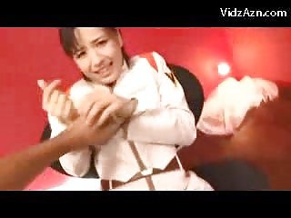 Handcuffed Girl In White..