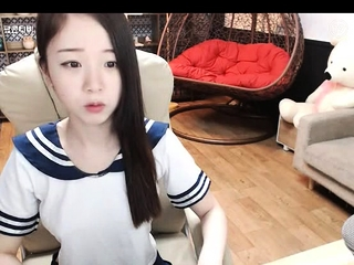 Asian college girl does solo..