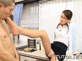 Charming teacher..