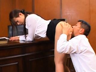 Oriental teacher gets the..
