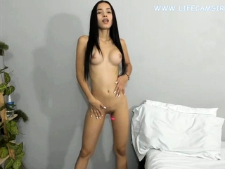 Young asian petite babe slim..