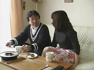Japanese wife husband skirt..
