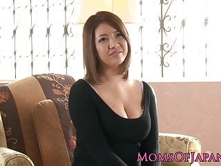 Busty japanese milf enjoys..