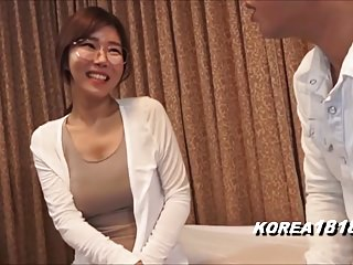 korean glasses girl in..