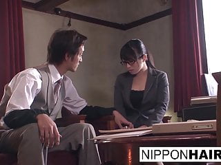 Japanese office slut gets..
