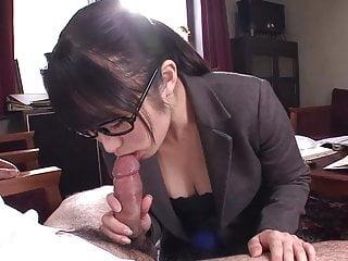 Office slut sucks and titty..