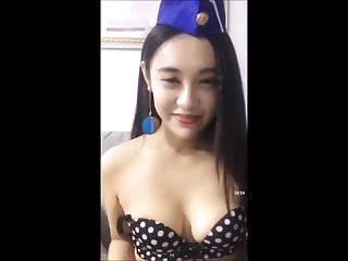 Chinese girl flashing her..