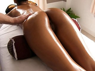 Gorgeous Asian ass oiled..