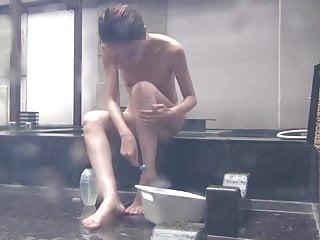 Spycam!! Outdoor bath..