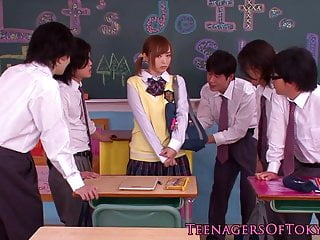 Japanese bukkake teen in..