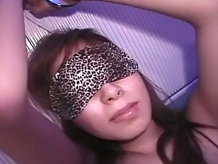 Cute Asian Babe Blindfolded..