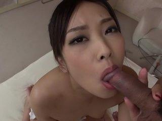 Exotic Japanese whore Saki..