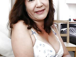 Japanese Granny shows Tits..