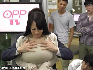Giant tits asian licking her..