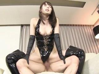 Exotic Japanese model Yui..