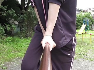 A woman who rubs an iron rod..