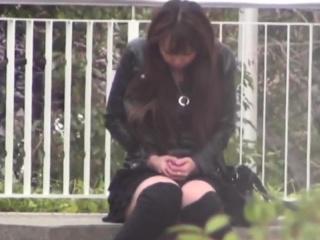 Asian teens spied outdoor