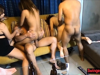 Group sex apropos tipsy Thai..
