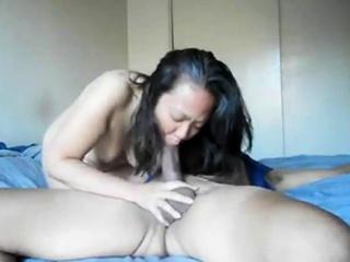 Hot asian neighbor can't get..