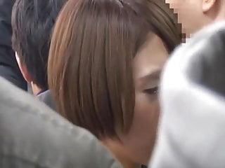 japanese girl groped..