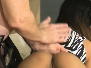 Asian cute babe gets..