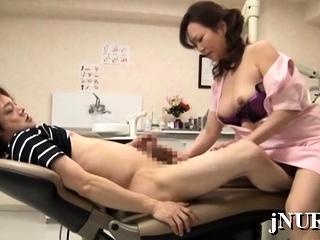 Japan nurse stem-post arse..