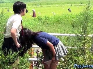 Kinky asians urinating