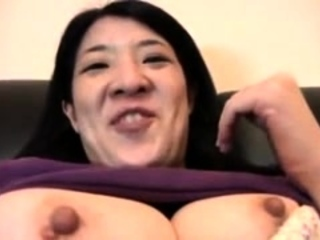 Busty Japanese hairy twat..