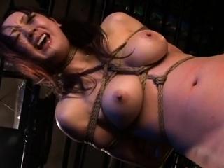 Japanese BDSM Busty slave in..