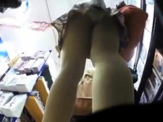 Mature upskirt panty..