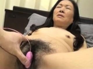 Bound Japanese hairy pussy..
