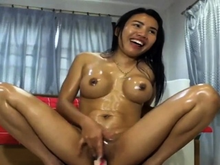 Asian Masturbating Dildo..