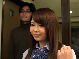 Teen girl in uniform..