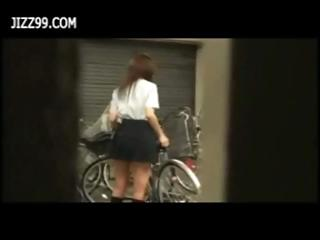 Nasty young Japanese teen..
