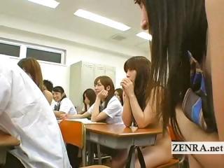 Undisguised in school Japan..