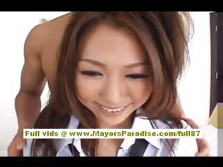 Risa Kasumi Asian girl gets..