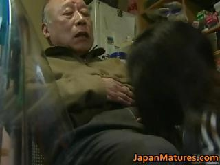 Japanese MILF enjoys hot sex..