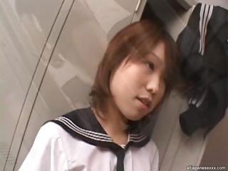 Morimoto Miku Triple Blowjob