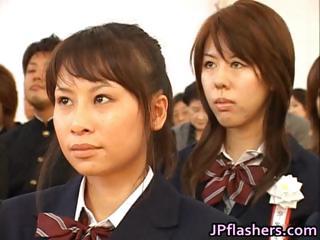 Japanese babe during..
