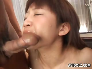 Lovely Asian double blowjob..